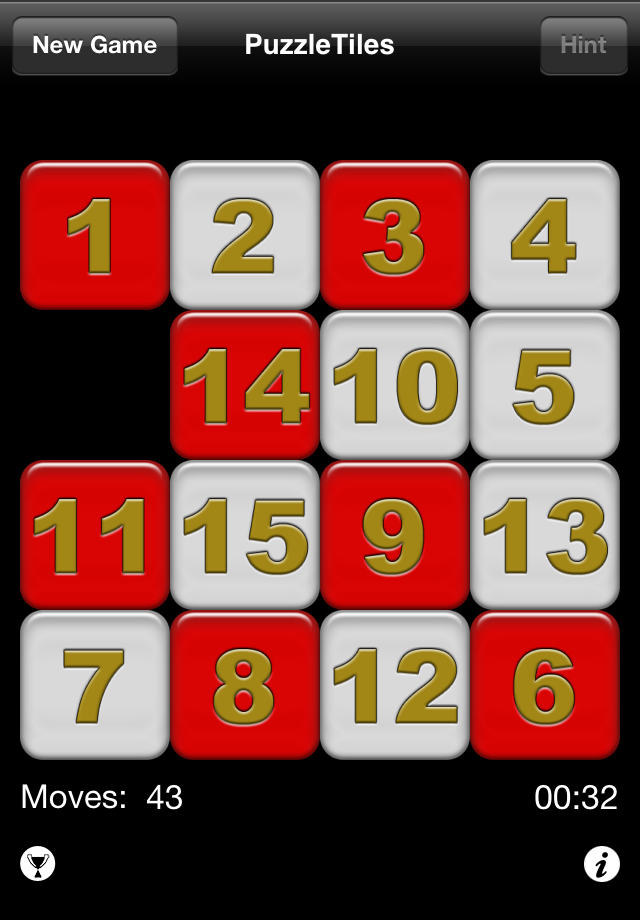 Screenshot PuzzleTiles Free – a classic 15 tile puzzle game